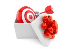 Gift with bull`s eye Stock Images