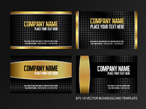 Vector business gold card design template vector. Gift business card yellow template royalty free illustration