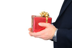 Gift from businessman Stock Image
