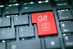 Gift Button –  Enter Key Stock Photo