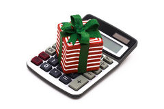 Gift Calculator Royalty Free Stock Image