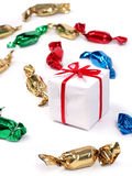 Gift with Candies Stock Photos