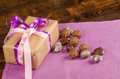 Gift and candy Royalty Free Stock Photo