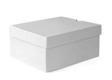 Gift Carboard Box isolated on white Stock Photos