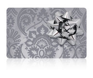 Gift Card — Clipping Path Stock Photo