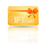 Gift card. A rendering of a generic gift card Royalty Free Stock Image