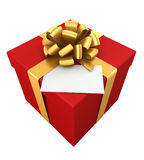 Gift with card. Royalty Free Stock Photo