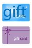 Gift card. Set of two gift cards isolated on white background.EPS file available Royalty Free Stock Photo