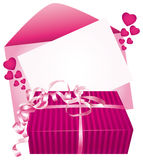 Gift and card. Royalty Free Stock Images