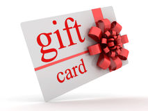 Gift card. Isolated on white. 3D render Stock Photography