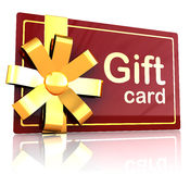 Gift card Royalty Free Stock Image