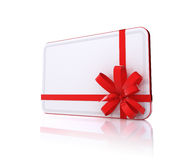 Gift card. Blank Gift card isolated on white Stock Images