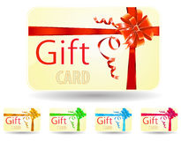 Gift card. Isolated on white Stock Images