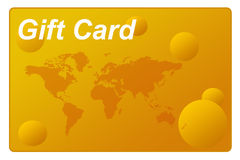 Gift card. Colorful gift card with copy space provided Royalty Free Stock Photography