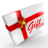 Gift card. Brand new shiny sparkling gift cards, concept of gift cards, coupons, discount codes, and online gift hampers Royalty Free Stock Images