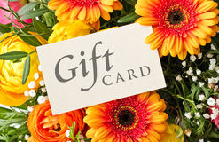 Gift card Royalty Free Stock Photos