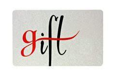 Gift Card. Isolated on a white background Royalty Free Stock Photo