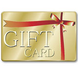 Gift card. A rendering of a generic gift card Stock Image