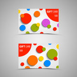 Gift card with abstract colored circles Royalty Free Stock Photos