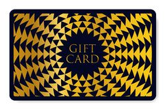 Gift card with abstract geometry pattern triangle texture stock illustration