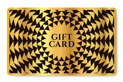 Gift card with abstract geometry pattern triangle texture vector illustration