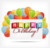 Gift card with balloons vector illustration. This is file of EPS10 format Stock Photo