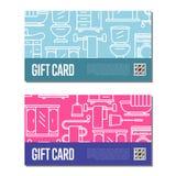 Gift card for bathroom furniture decor Royalty Free Stock Photos