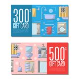 Gift card for bathroom furniture Royalty Free Stock Photo
