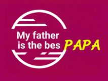 This is a gift card of best papa,word text, vector. stock image
