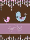 Gift card with birds.  Stock Photos