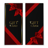 Gift card. Black voucher templates. Stock Image