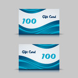 Gift card with blue abstract background Royalty Free Stock Photos