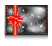 Gift card with a bow Stock Images