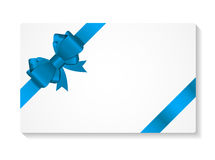 Gift Card with Bow and Ribbon Vector Illustration Stock Photography