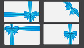Gift card with bow vector illustration Stock Images