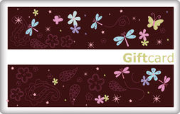 Gift card with butterfly Royalty Free Stock Image