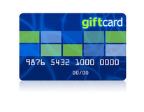 Gift card. With a clipping path Stock Photos