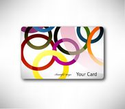 Gift Card with colorful ring. Vector Stock Photos