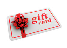Gift card concept  3d illustration Royalty Free Stock Photos