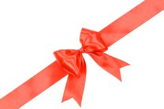 Red ribbon gift card Royalty Free Stock Photography