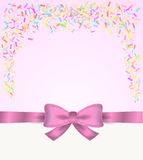 Gift card and confetti Stock Image