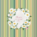GIFT CARD WITH COPY SPACE AND FLOWER BOUQUET. Stock Photo