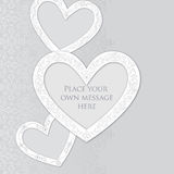 Gift card with copy space. Love heart label. Greet Stock Photos