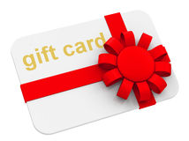 The gift card Royalty Free Stock Photos