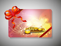 Gift card for Deepawali or Diwali. Festival in India. EPS 10 Royalty Free Stock Images