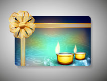 Gift card for Deepawali or Diwali. Festival in India. EPS 10 Stock Photography
