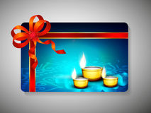 Gift card for Deepawali or Diwali. Festival in India. EPS 10 royalty free illustration