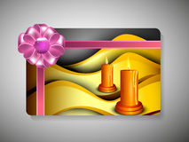 Gift card for Deepawali or Diwali. Festival in India. EPS 10 stock illustration