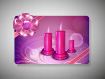 Gift card for Deepawali or Diwali festival. In India. EPS 10 Royalty Free Stock Image