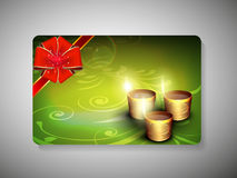 Gift card for Deepawali or Diwali festival. In India. EPS 10 Royalty Free Stock Photo